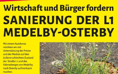 Demo im Mai – Wirtschaft fordert Sanierung der L1 Medelby Osterby